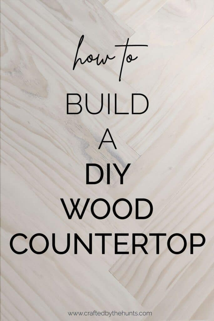 how to build a DIY wood countertop