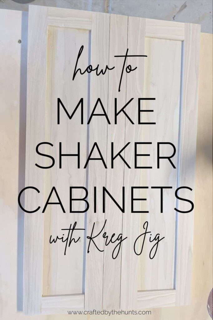how to make shaker cabinets with Kreg Jig