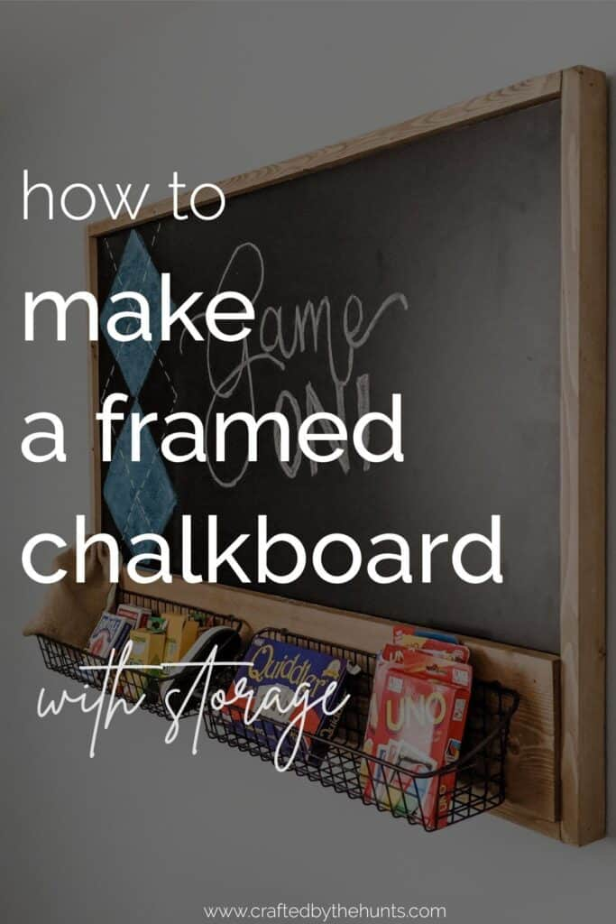 how to mkae a framed chalkboard with storage