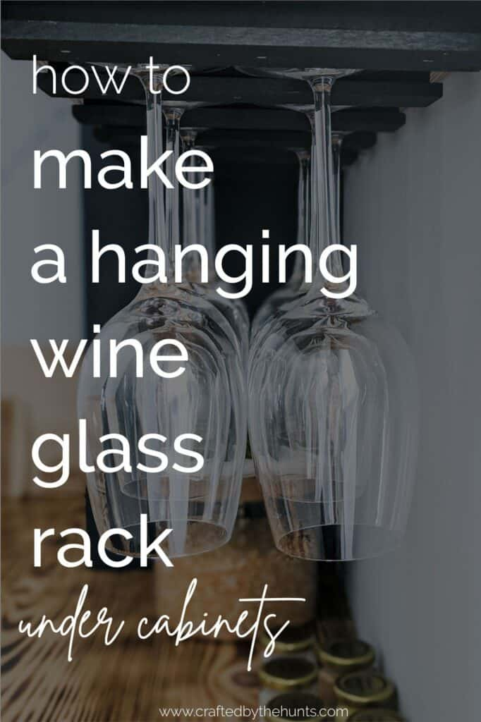 how to make a hanging wine glass rack under cabinets