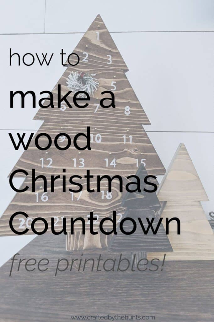 how to make a wood Christmas Countdown
