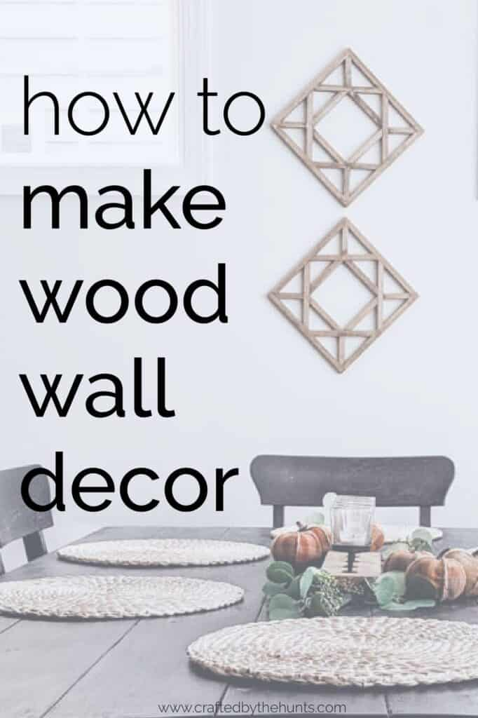 how to make wood wall decor