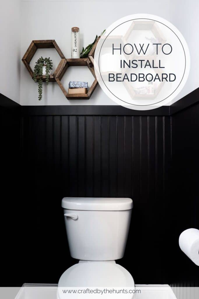 How to insteall beadboard | black beadboard in small powder room