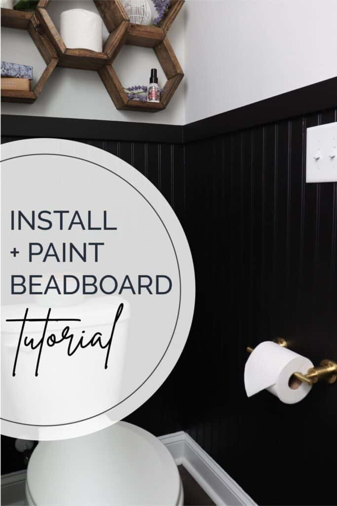 Install and paint beadboard tutorial