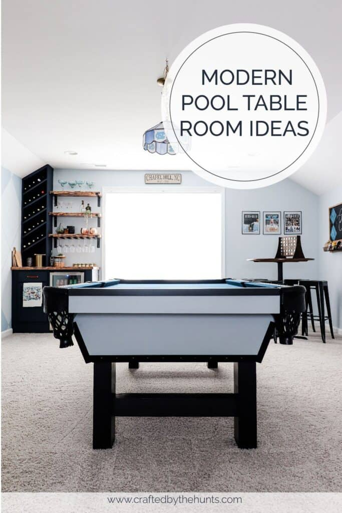Modern pool table room ideas