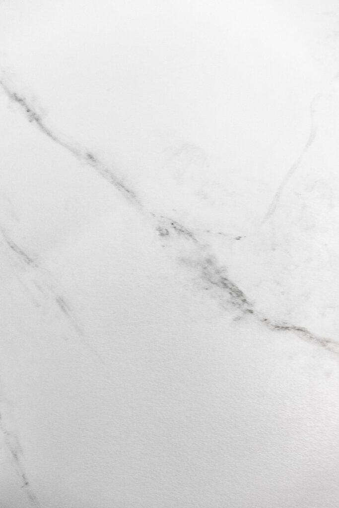close-up of DIY painted marble wall