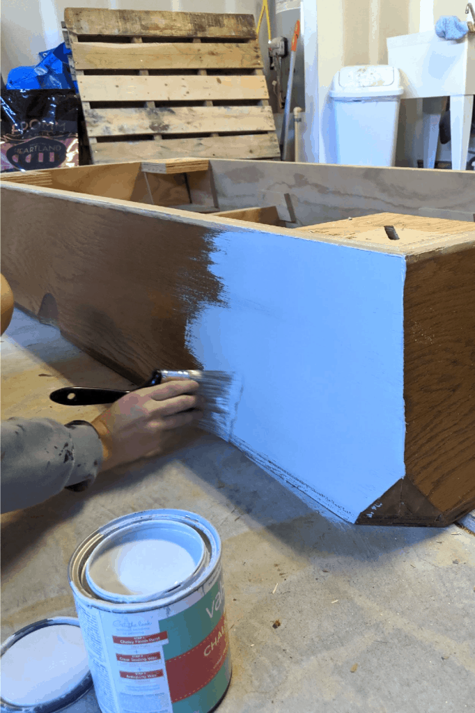 painting over wood pool table base using chalk paint