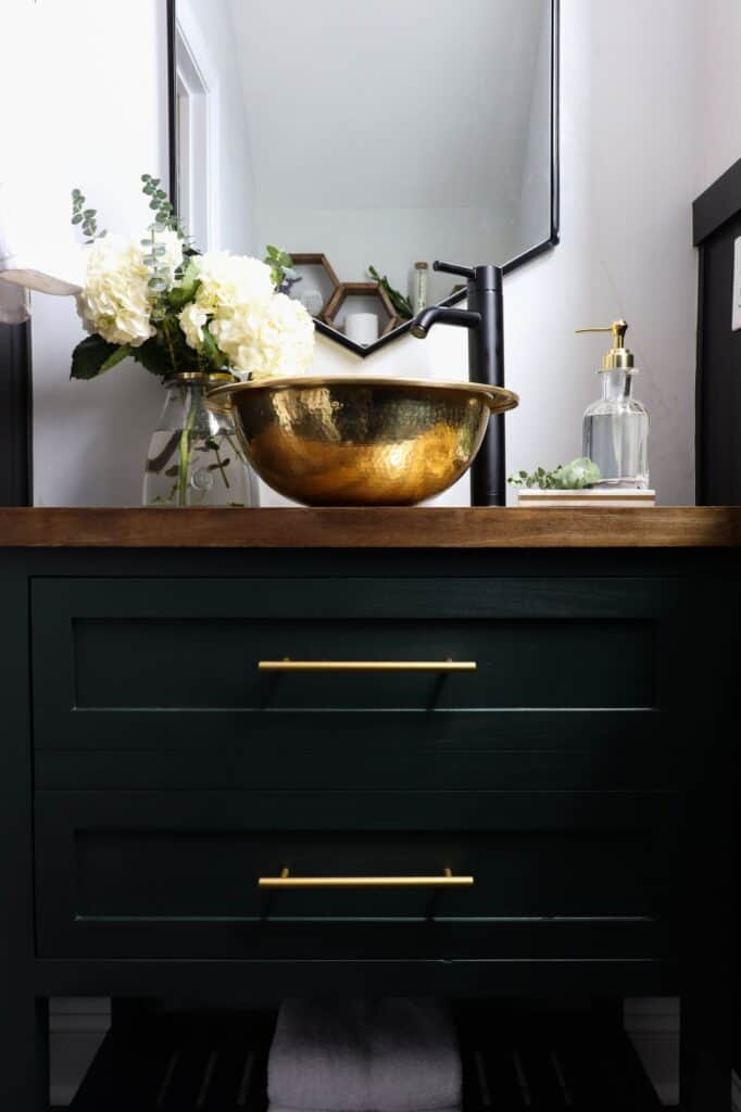 Modern Powder Room Reveal Crafted By The Hunts