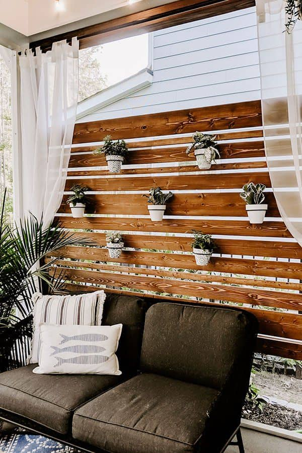 patio privacy screen with plants
