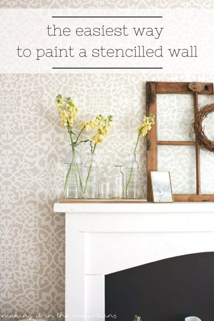 The easiest way to paint a stenciled wall accent wall idea