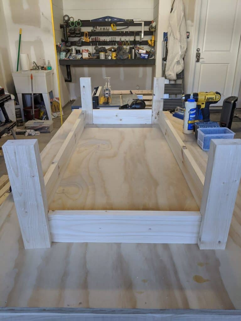 assembling bottom of porch swing using 2x4 lumber