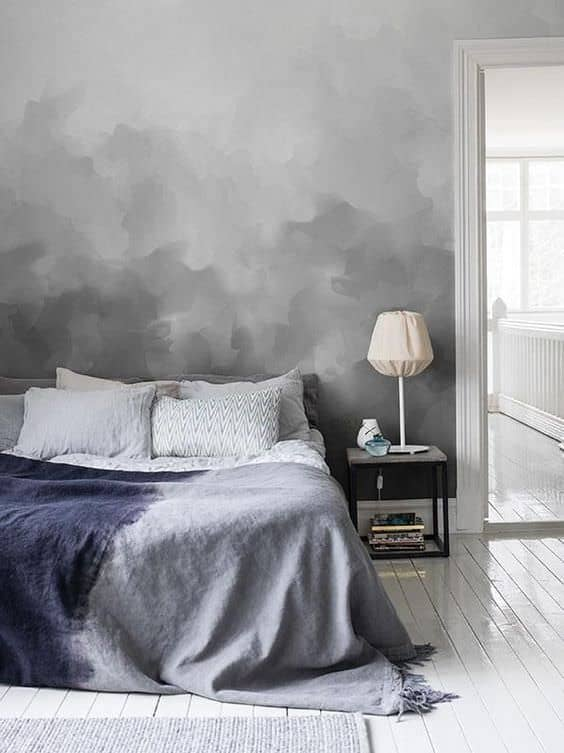 ombre painted accent wall