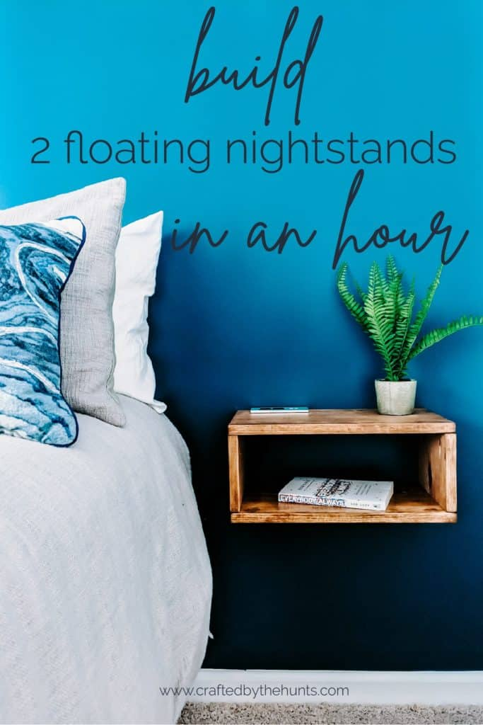 built 2 floating nightstands in an hour