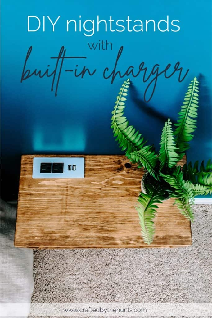 diy floating nightstand with built-in USB charger