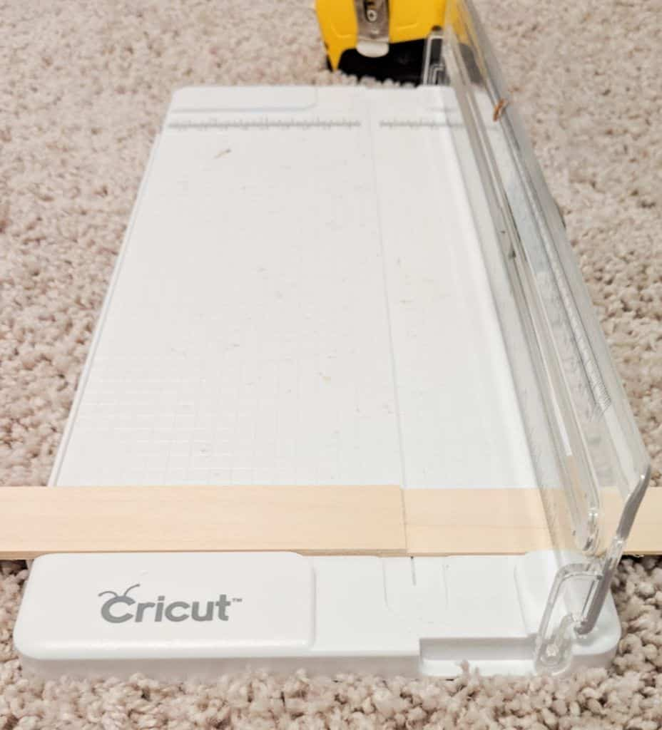cutting thin wood using a paper cutter