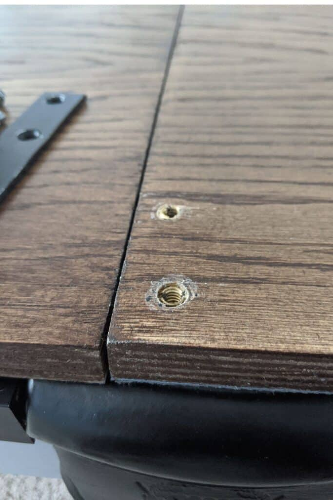 Installing wood inserts into wood ping pong table top