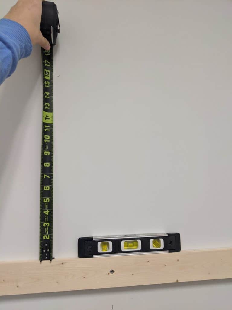 measuring distance between shelves