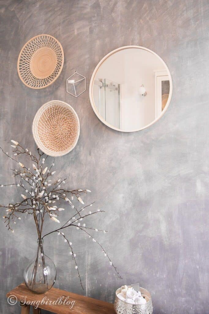 faux concrete wall using paint