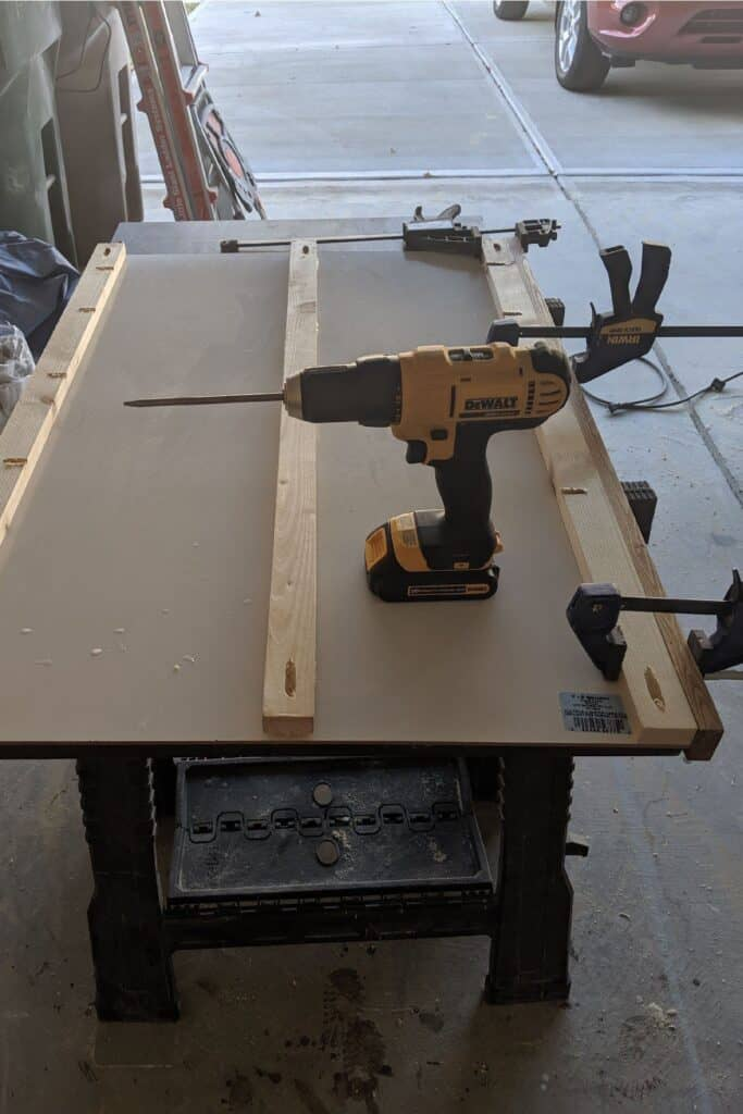 clamping trim boards