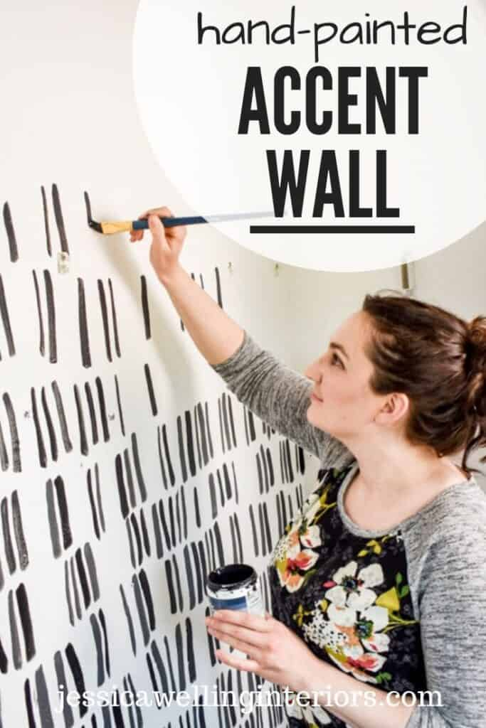 hand painted accent wall idea