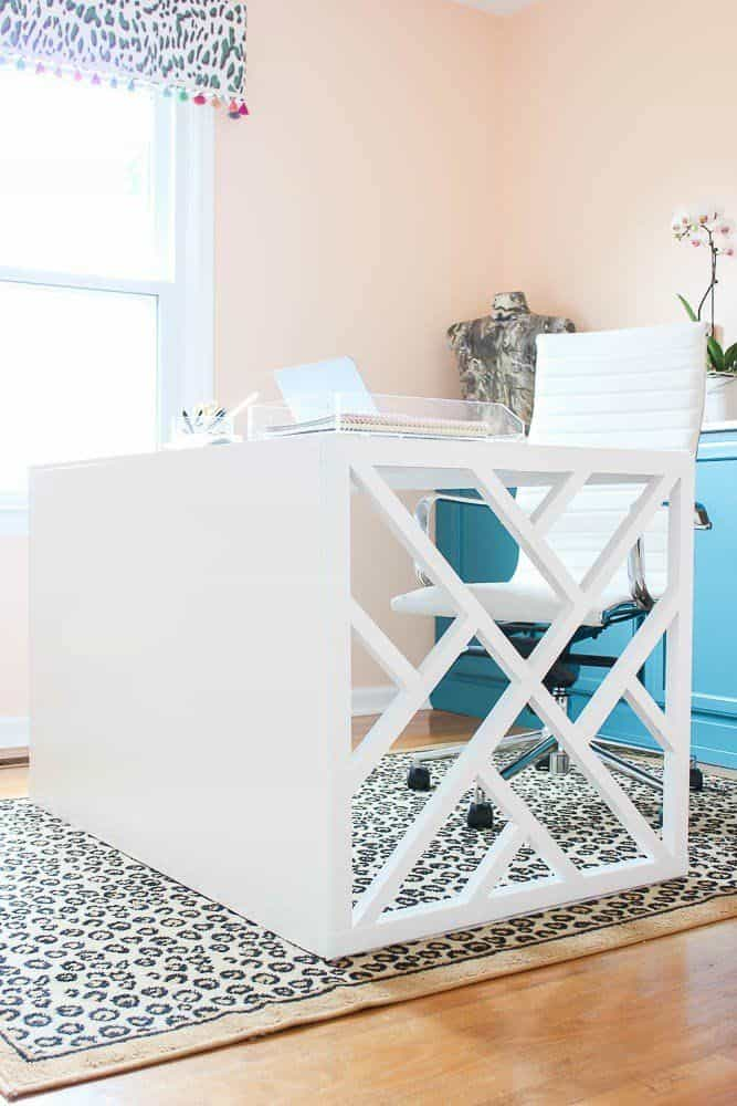 DIY white chippendale desk