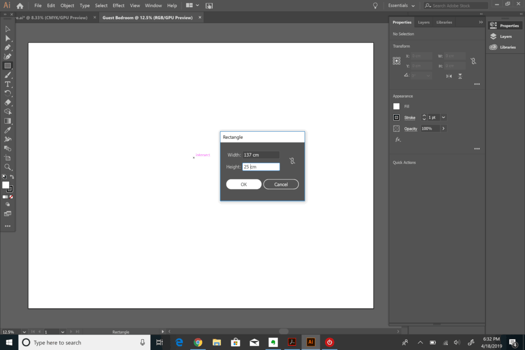 making a rectangle in Adobe Illustrator