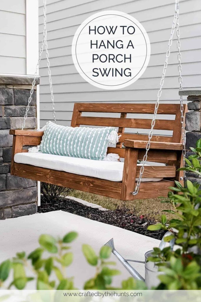how to hang a porch swing from the ceiling