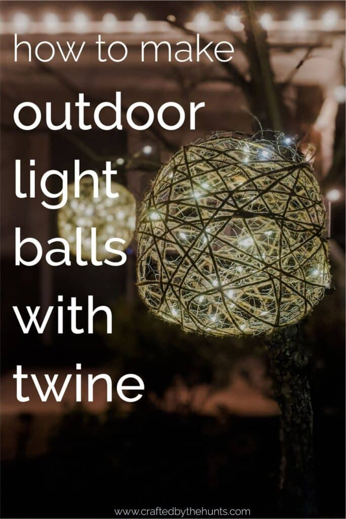 How to make outdoor light balls with twine