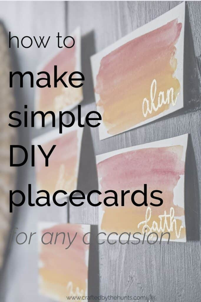 how to make simple DIY placements for any occasion
