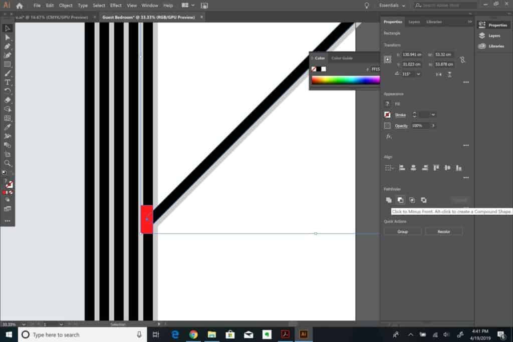 making angles in Adobe Illustrator