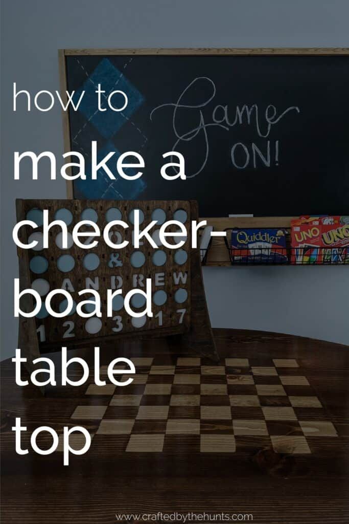 how to make a checkerboard table top