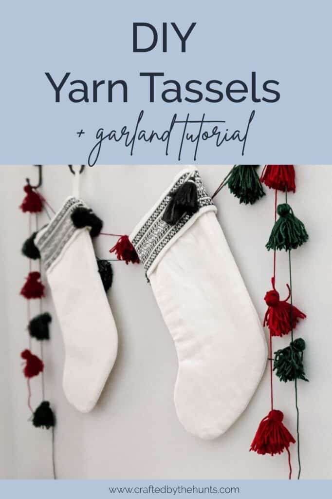 DIY yarn tassels and garland tutorial