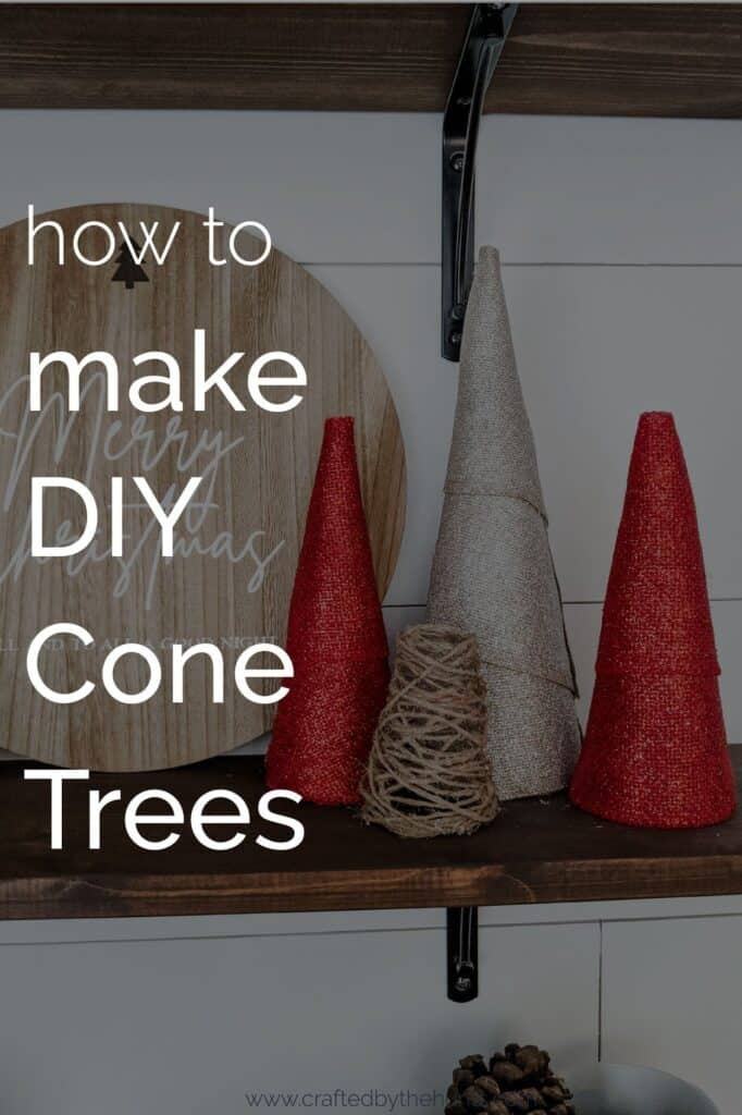 how to make DIY cone trees