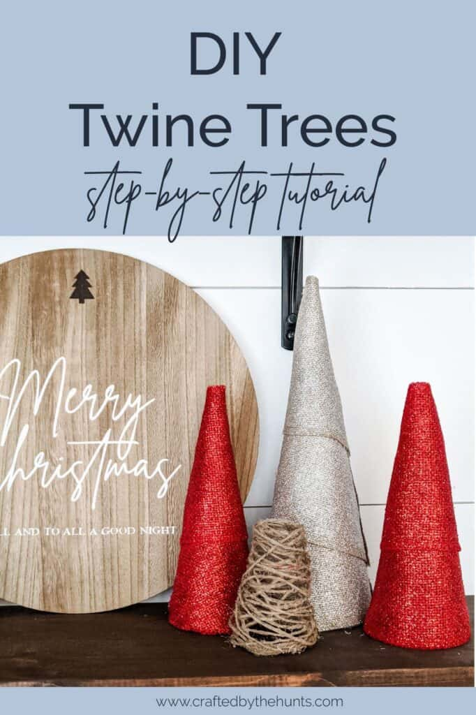 DIY twine trees step-by-step tutorial