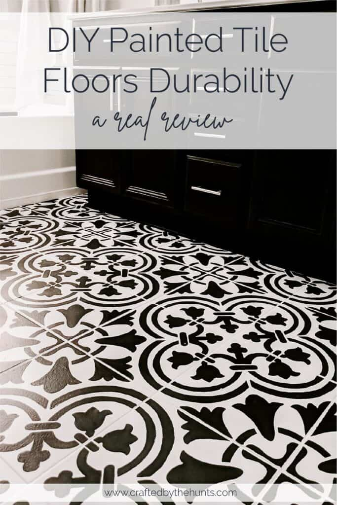 DIY Painted Tile Floors Durability - a real review