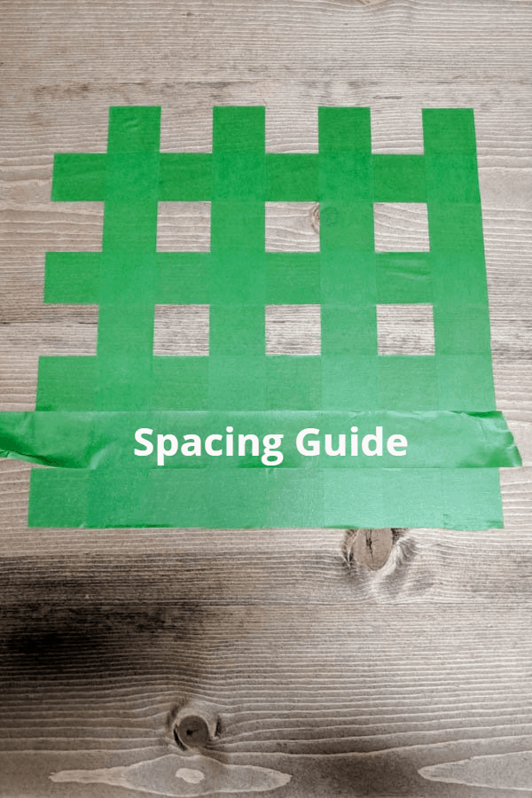 create your checkerboard pattern using tape and a spacing guide