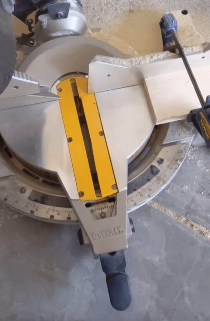 setting up a jig for the miter saw