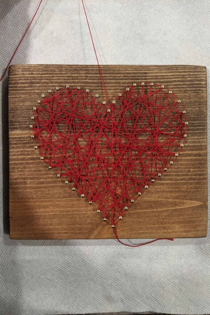 outline your pattern using string