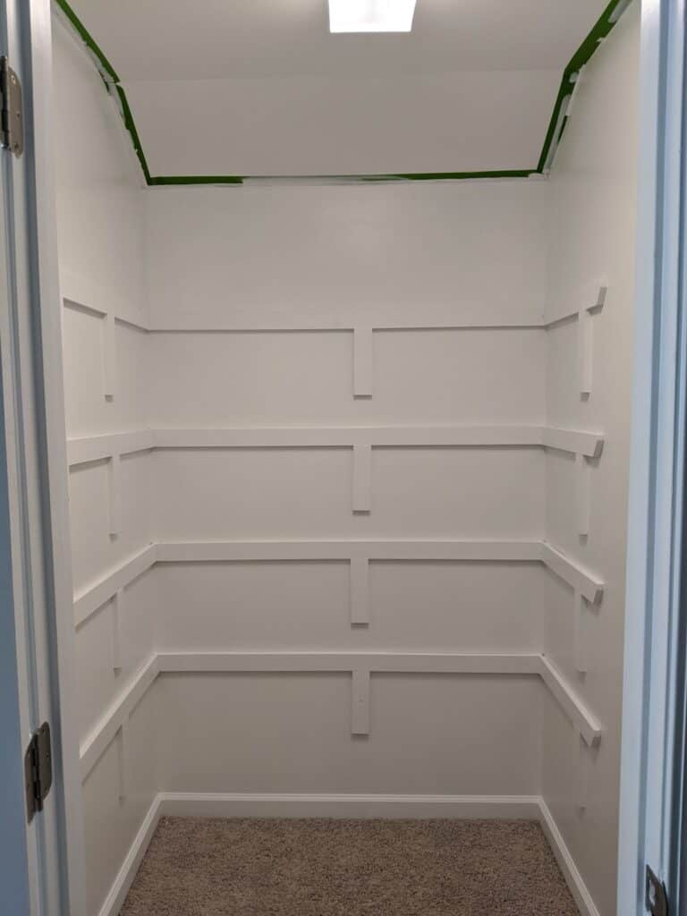 closet painted white