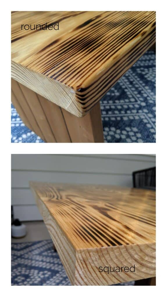 rounded vs square edges on wood boards
