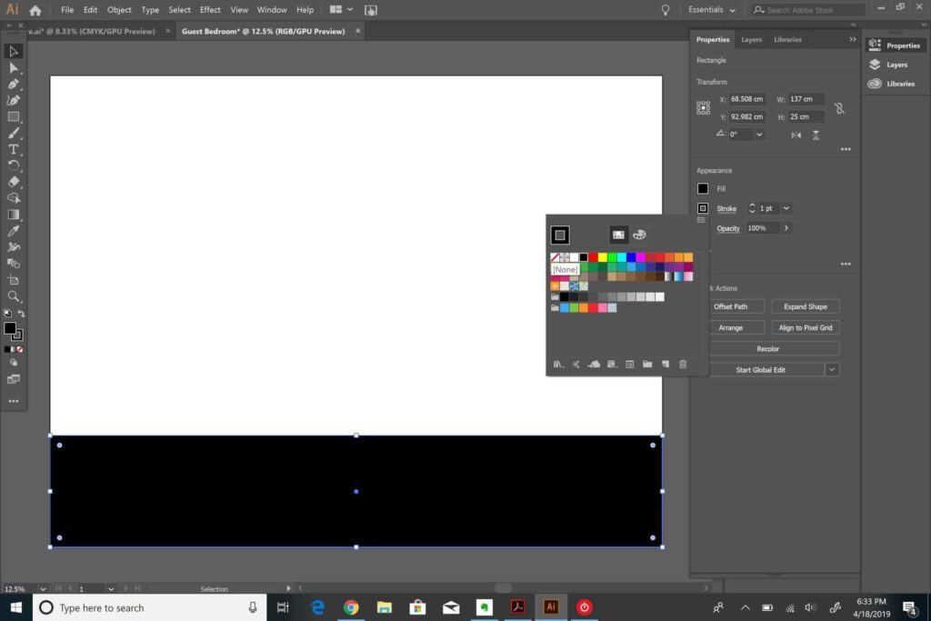 changing colors in Adobe Illustrator