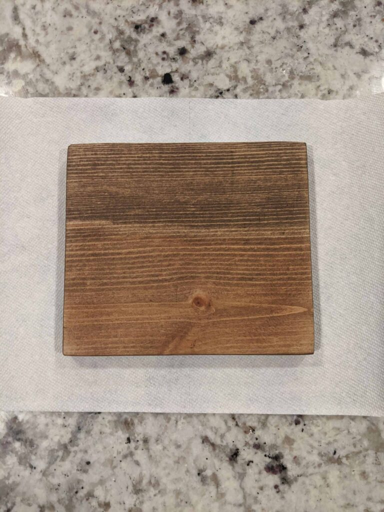 stained wood piece