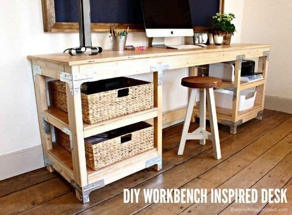 woodbench inspired desk
