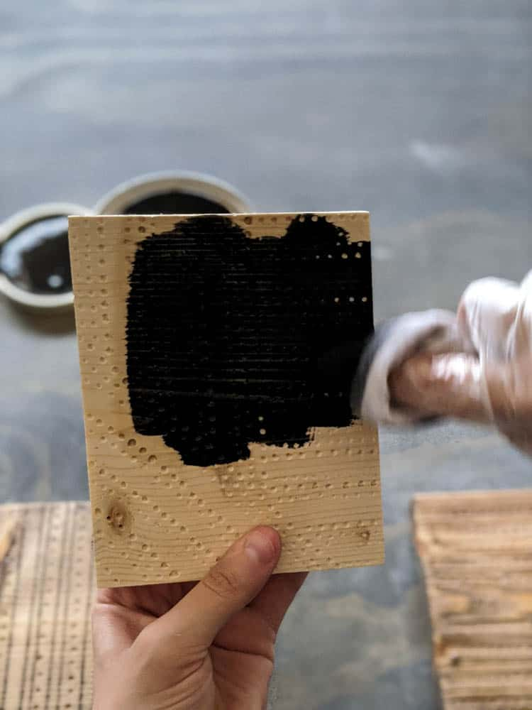 staining wood black