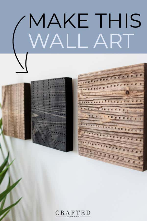 make carved wall art out of scrap wood