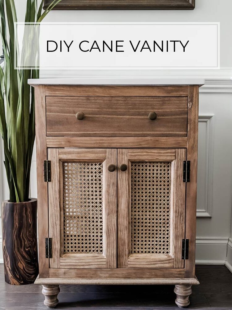 DIY Cane Bathroom Vanity