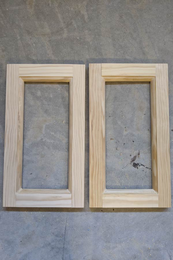 shaker cabinet doors with quarter round detail