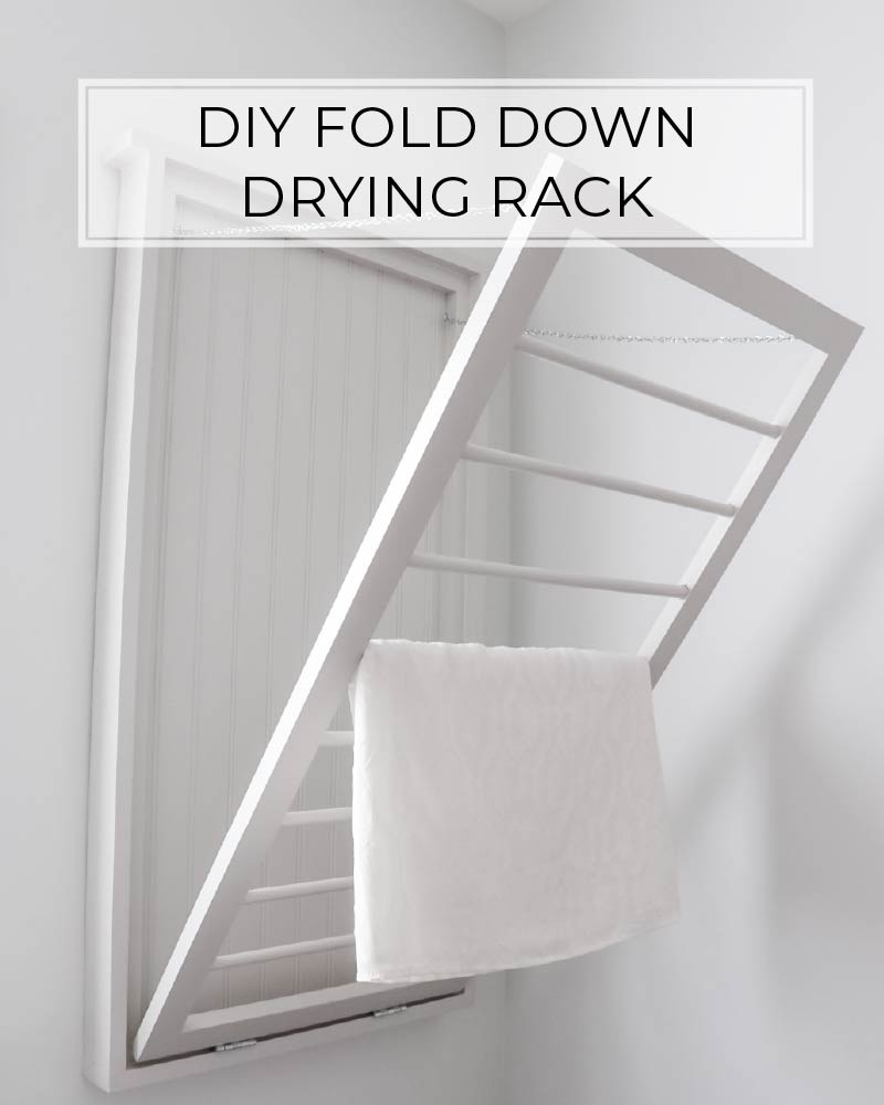 Diy Fold Down Drying Rack Crafted By The Hunts