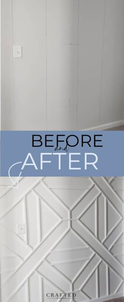 before and after accent wall