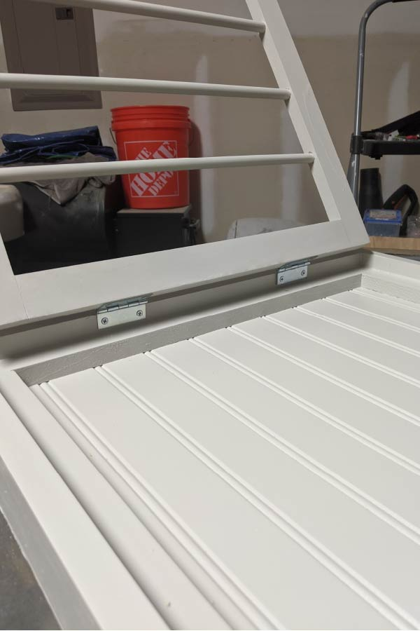 add hinges to drying rack